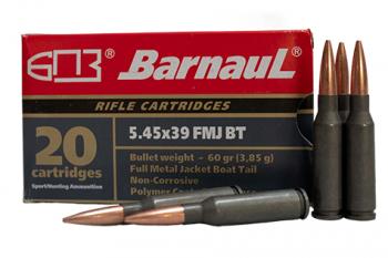 BARNAUL 545x39 60gr FMJ steel polycoated case